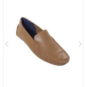 Like new mens lacoste tan loafers